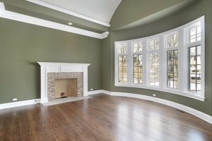 interior-family-room-by-spokane-painter-with-olive-green-walls-and-white-trim